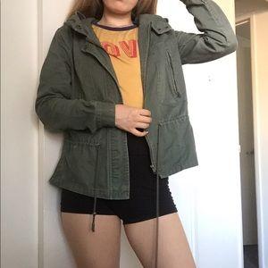 Green khaki army jacket